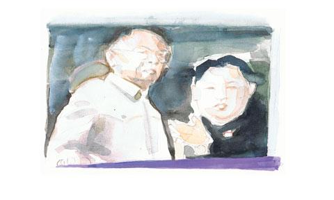 Titelbilder der Süddeutschen Zeitung Kim Jong II mit seinem Sohn Kim Jong